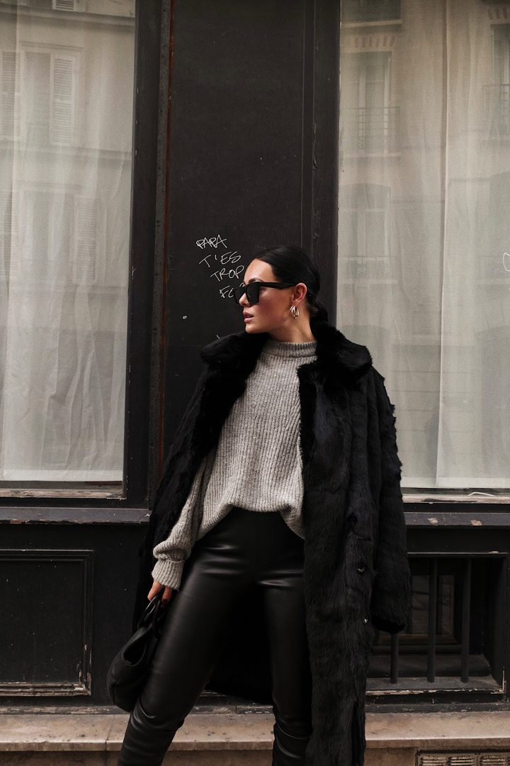 winter outfit, Paris.